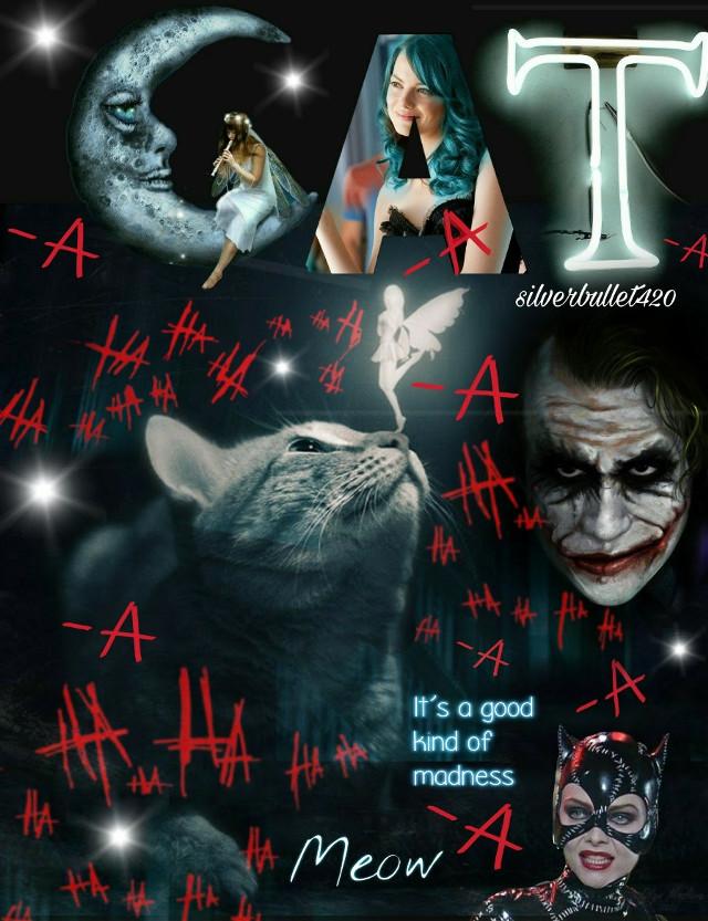 #pllstickerremix   collage of madness #crazy #joker #easya #hahaha #cat #catwoman