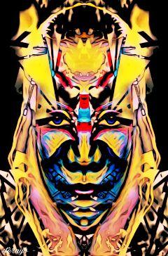 color popart retro psychedelic vintage