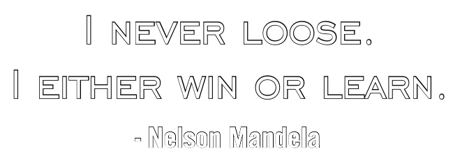 nelsonmandela quote text loose win