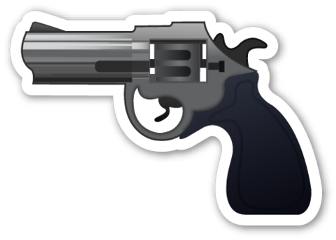 sticker gun emoji freetoedit