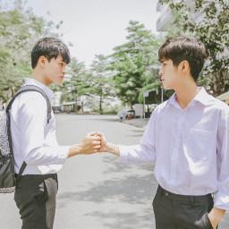 freetoedit handshake human portrait boys