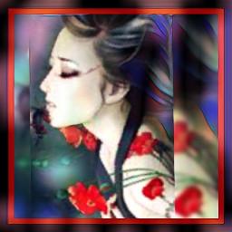 flowers women beauty colors uniqueart freetoedit