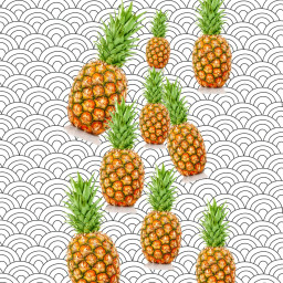 freetoedit pineapple wallpaper back background