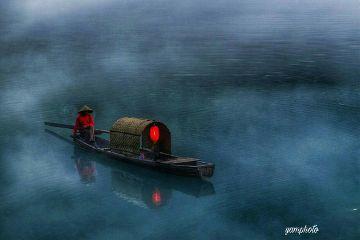 boating foggymorning photography