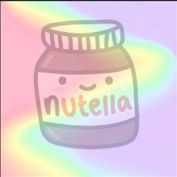 freetoedit cute nutella colorful rainbow