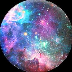 galaxy blue purple pink green