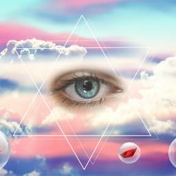 surreal art eyes freetoedit