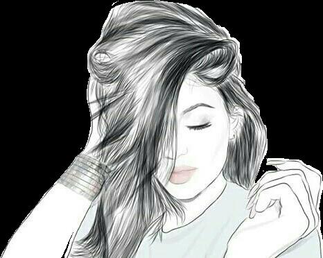 #girl #cute #hair #girls #black #white #wallpaper #tumblr #selfie