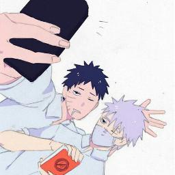 freetoedit naruto obito anime kakashi