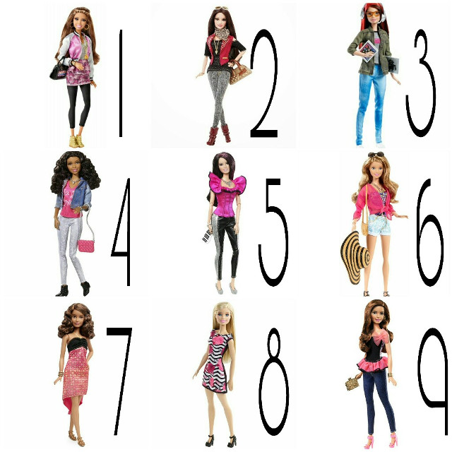 Which one would you like to have? I'd like 1,2,3,4,8 and 9 How about you? #barbie #barbiestyle #barbiephotography #barbiegirl #barbiedolls