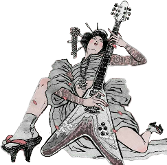 girl japanese oriental rock guitar