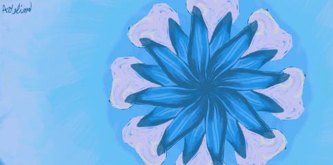 myart bad flower digitalart blue