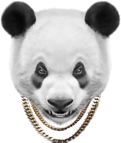 ftestickers pandastickers thuglife freetoedit