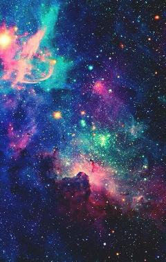 galaxy love pink blue purple