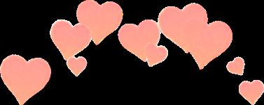 heart hearts pink peach sad.ann