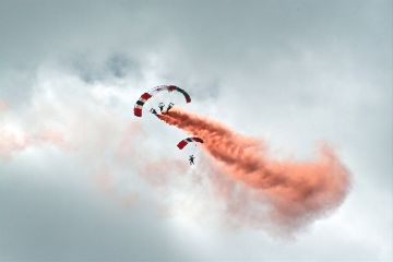 freetoedit paragliding sky clouds colorful