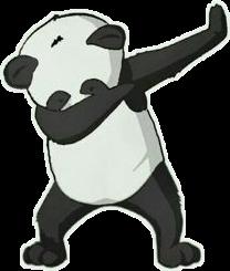 panda black animals freetoedit