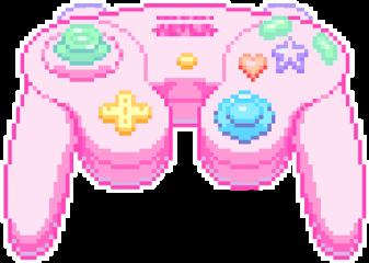 controller pink kawaii pixel freetoedit