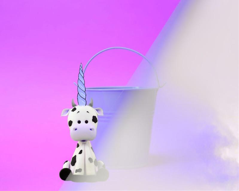 #madewithpicsart #friendstickers #ftestickers #cow #unicorn #cute #dreamy