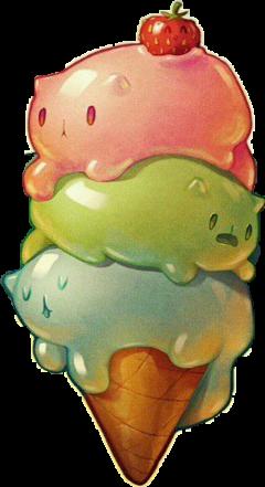 freetoedit cats icecream strawberry котята