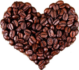 кофе сердце freetoedit