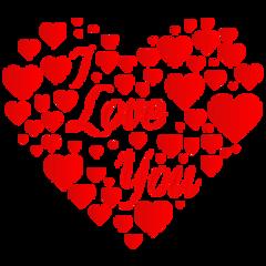 ftstickers love heart freetoedit