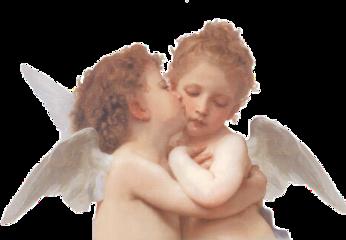 angels wings babies kissing love