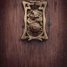 dpcknockersandbells exploringthecitystreets olddoorbell artnouveau romanticlook