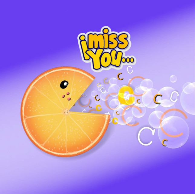 #mydraw #ftesticker #imissyou #orange #purple #fruit #vitaminc