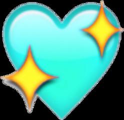 heart blue aesthetic tumblr emoji