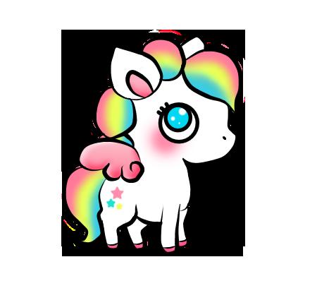 Unicorn Sticker Stickers Cute Colors Kawaii