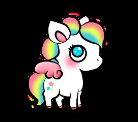 unicorn sticker stickers cute colors