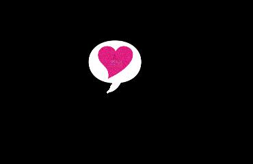 heart hearts love pink black