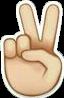 sticker emoji fingers peace freetoedit