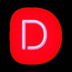 freetoedit letterd letter neonletter d
