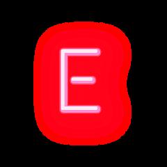 freetoedit lettere letter neonletter e