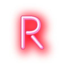 freetoedit letterr letter neonletter r