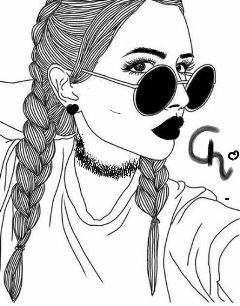 freetoedit blackandwhite glasses edited tumblrgirl