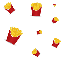 ftestickers frenchfries junkfood mask