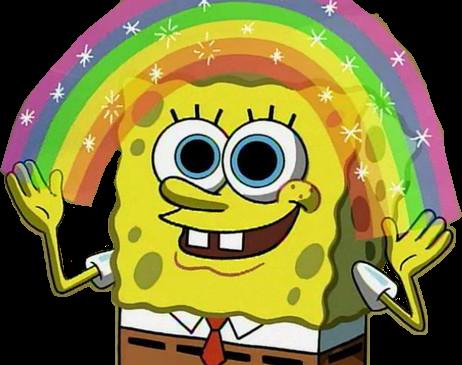 Spongebob rainbow meme