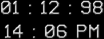 надпись текст цифры время freetoedit