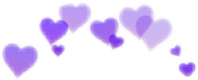 taç heart kalp mor purple