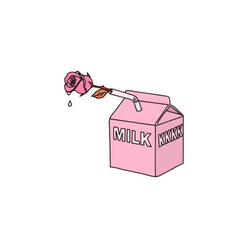 aesthetic milk drawing - Sticker by KoKo61