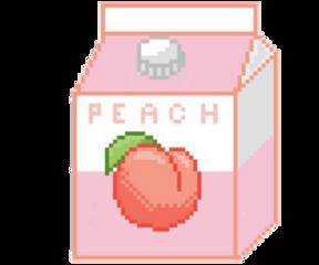 peach milk pixel drink freetoedit