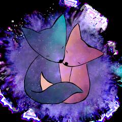 ftestickers fox galaxy love
