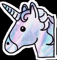 emoji unicorn love cute galaxy