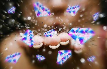 diamondgalaxystickerremix hand glitter myedit freetoedit