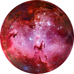ftestickers red galaxy space
