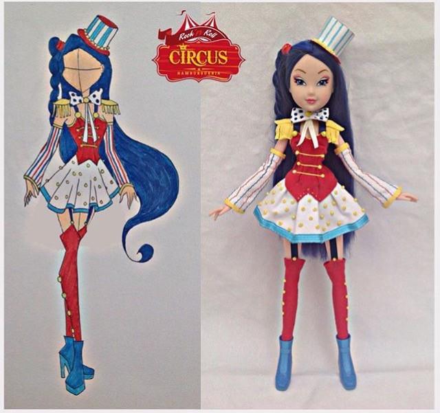 my custom winx musa doll magic circus i created
