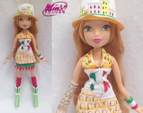 my custom winx flora doll italia i created
